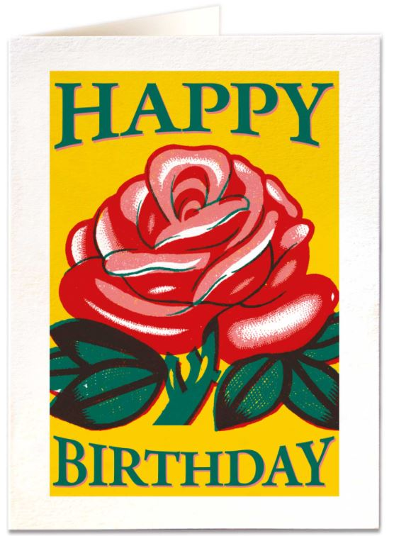 Card Happy Birthday Rose