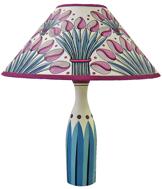"Tulips 14"" Paper Lampshade"