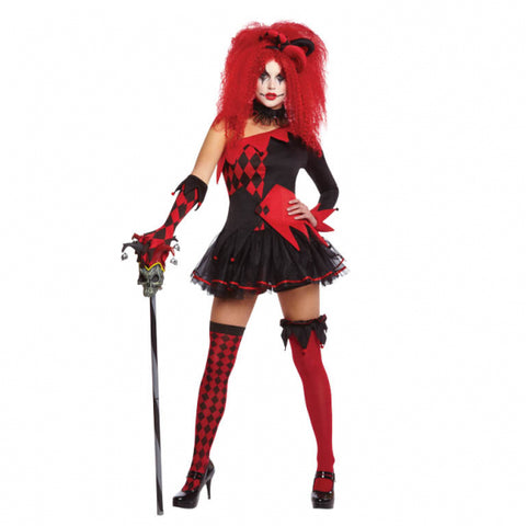 Jesterina Clown, Adult Costume - Party Avenue Ltd
