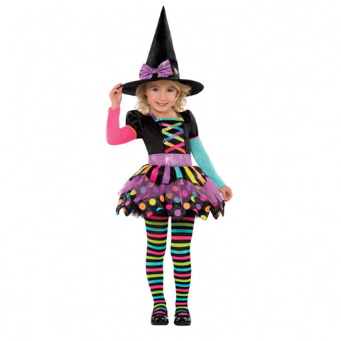 Miss Matched Neon Witch, Halloween Costume - Party Avenue Ltd