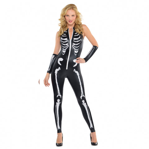 Skeleton Cat Suit, Adult Costume - Party Avenue Ltd