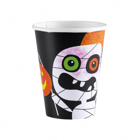 Halloween Kids Friendly Mummy, Cups 8pk 266ml - Party Avenue Ltd