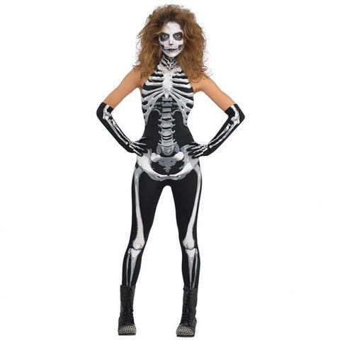 Bone A Fied Babe skeleton, Adult Costume - Party Avenue Ltd
