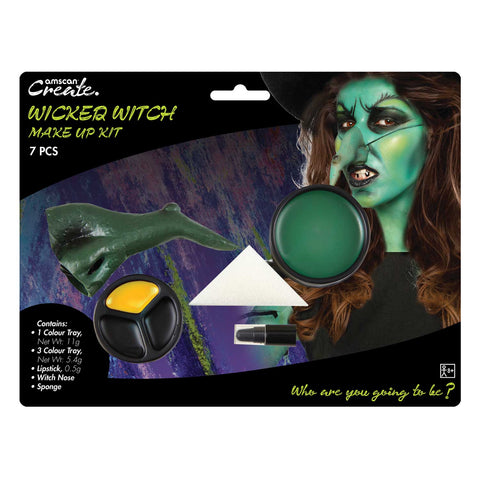 4pk Wicked Witch Make Up Kit, Halloween Facepaints - Party Avenue Ltd