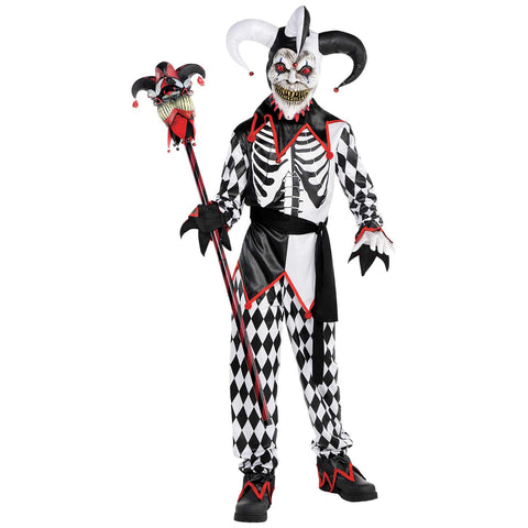 Sinister Jester, Halloween Costume - Party Avenue Ltd
