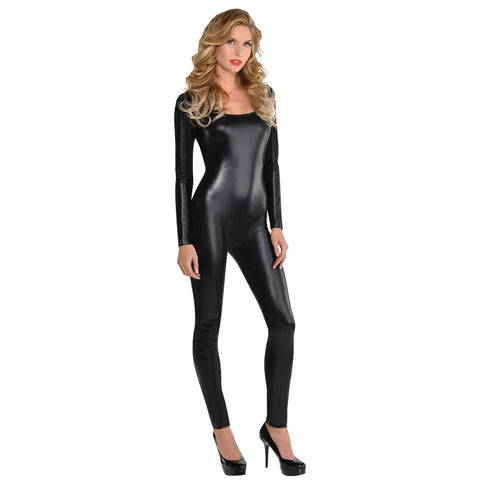 Black Liquid Catsuit, Adult Costume - Party Avenue Ltd