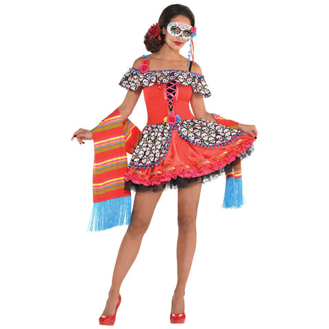 Senora Sugar Skull, Adult Costume - Party Avenue Ltd