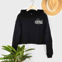 engaged teacher cropped hoodie