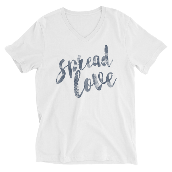 Spread Love Unisex Short Sleeve V-Neck T-Shirt