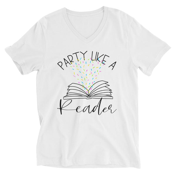 Party Like a Reader V-Neck