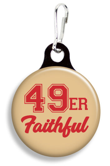 SF 49er Faithful - Fetch Life Pet Outfitters Dog & Cat Collar Clips