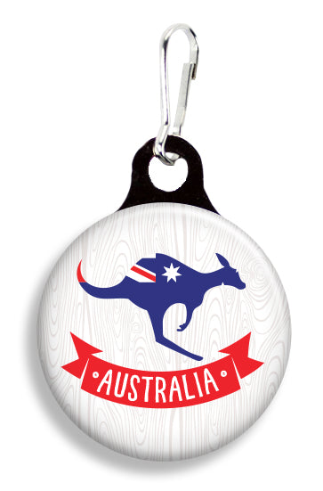 Aussie Kangaroo - Fetch Life Pet Outfitters Dog & Cat Collar Clips