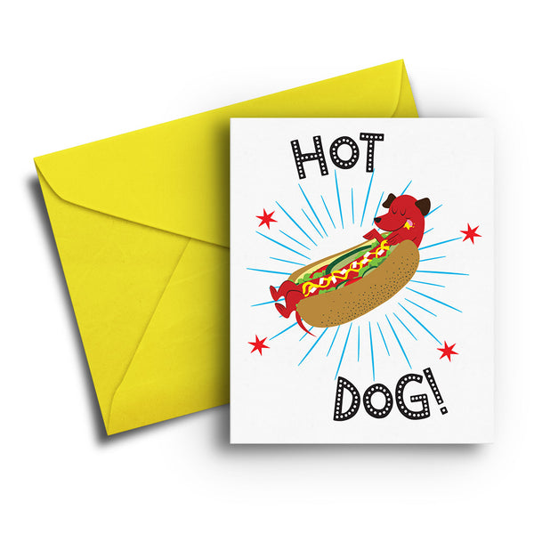 Hot Dog Birthday Card - Fetch Life Pet Outfitters Dog & Cat Collar Clips