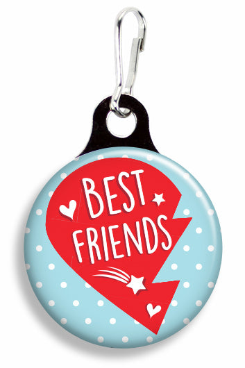 Best Friends Heart Left - Fetch Life Pet Outfitters Dog & Cat Collar Clips