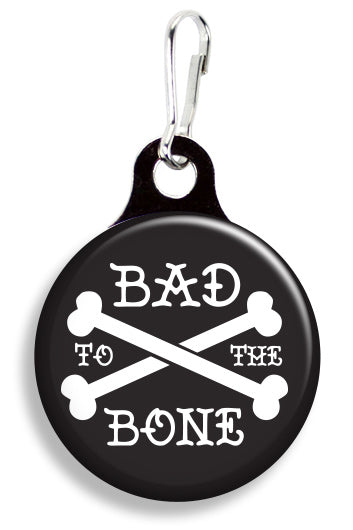 Tattoo Bad to the Bone - Fetch Life Pet Outfitters Dog & Cat Collar Clips