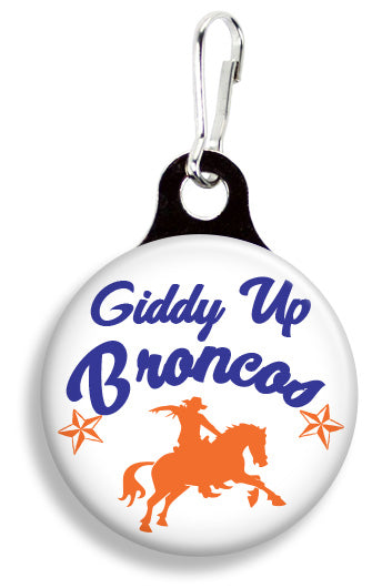 Broncos Giddy Up - Fetch Life Pet Outfitters Dog & Cat Collar Clips