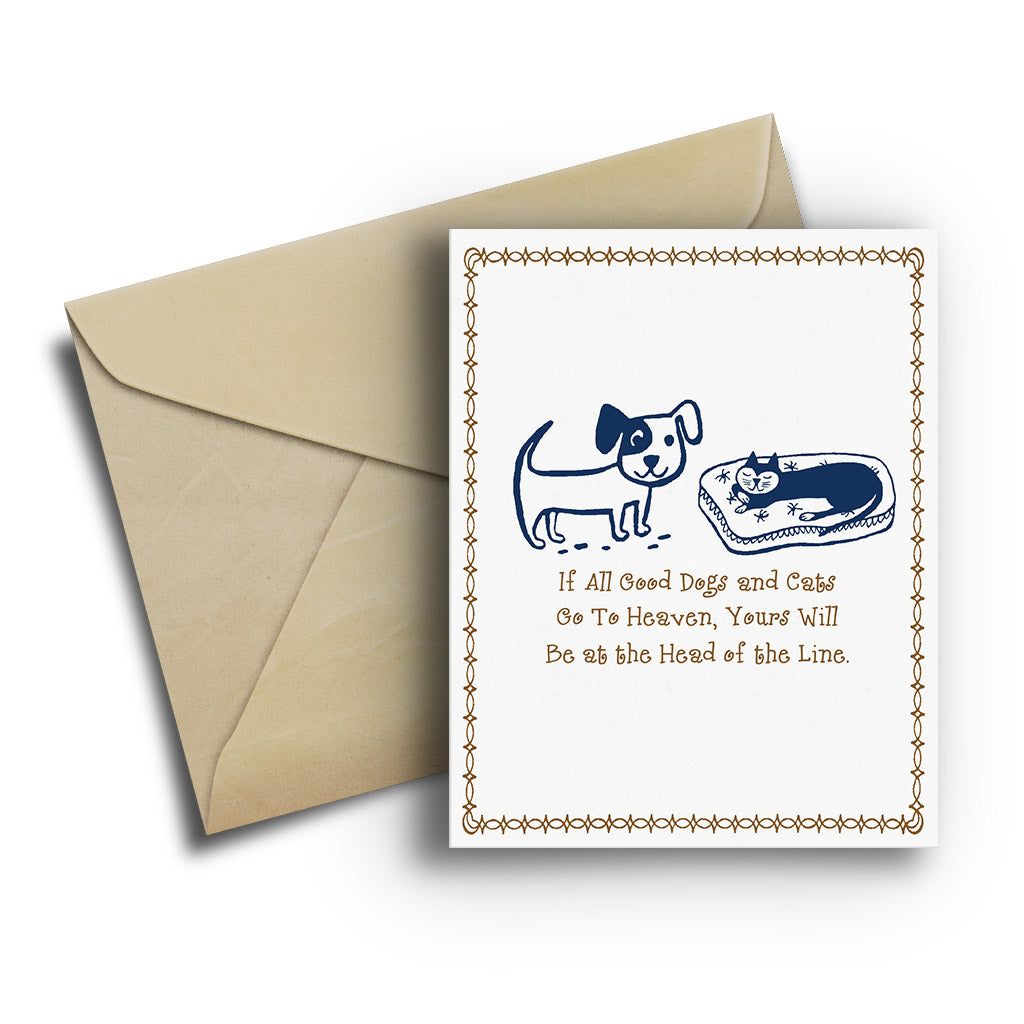 Pet Sympathy Card - Fetch Life Pet Outfitters Dog & Cat Collar Clips