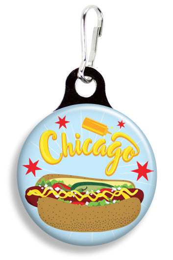 Chicago Hot Dog - Fetch Life Pet Outfitters Dog & Cat Collar Clips