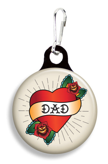 Tattoo Dad Heart Cream - Fetch Life Pet Outfitters Dog & Cat Collar Clips