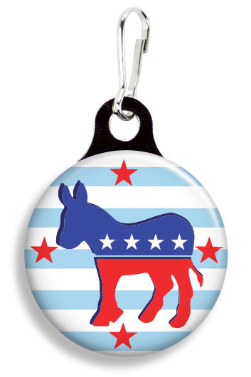 Democrat Donkey - Fetch Life Pet Outfitters Dog & Cat Collar Clips