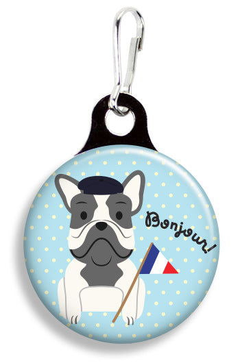 Bonjour Frenchie - Fetch Life Pet Outfitters Dog & Cat Collar Clips