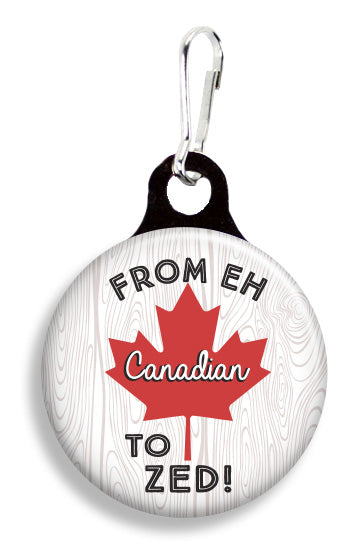 Canadian From Eh to Zed - Fetch Life Pet Outfitters Dog & Cat Collar Clips