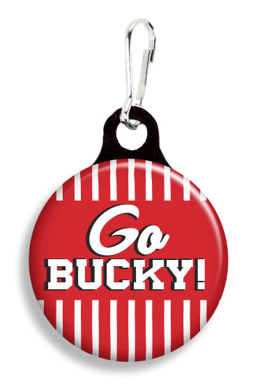 Wisconsin Go Bucky - Fetch Life Pet Outfitters Dog & Cat Collar Clips