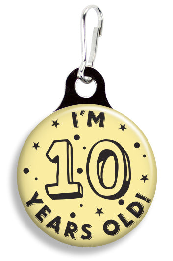 Happy 10th Birthday - Fetch Life Pet Outfitters Dog & Cat Collar Clips