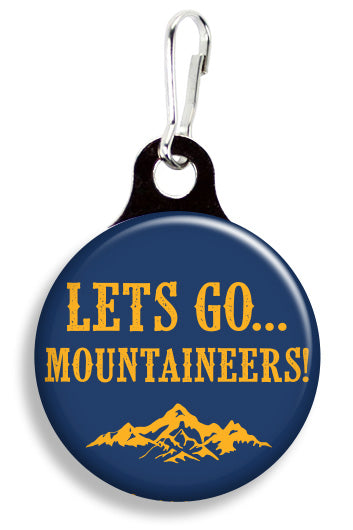 WVU Let's Go Mountaineers - Fetch Life Pet Outfitters Dog & Cat Collar Clips