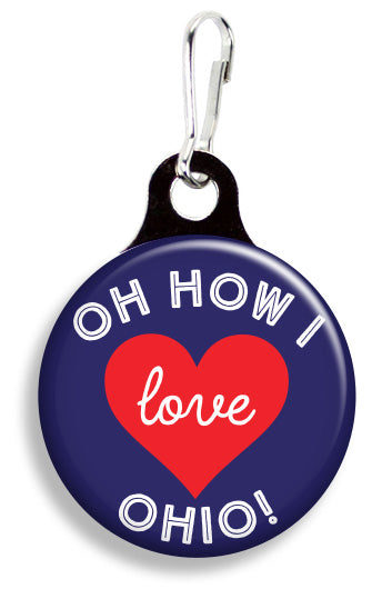 Oh How I Love Ohio - Fetch Life Pet Outfitters Dog & Cat Collar Clips