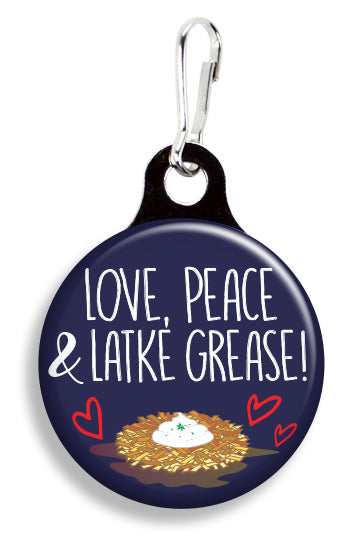 Love Peace and Latke Grease - Fetch Life Pet Outfitters Dog & Cat Collar Clips