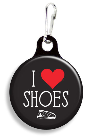 I Love Shoes Black - Fetch Life Pet Outfitters Dog & Cat Collar Clips