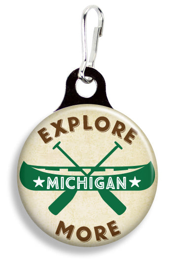 Explore More Michigan - Fetch Life Pet Outfitters Dog & Cat Collar Clips