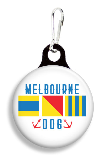 Melbourne Nautical Flag - Fetch Life Pet Outfitters Dog & Cat Collar Clips