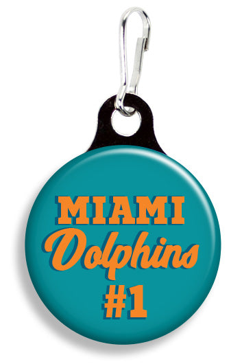 Miami Dolphins #1 - Fetch Life Pet Outfitters Dog & Cat Collar Clips