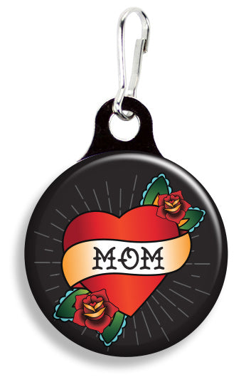 Tattoo Mom Heart Black - Fetch Life Pet Outfitters Dog & Cat Collar Clips