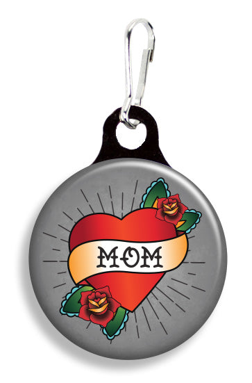 Tattoo Mom Heart Gray