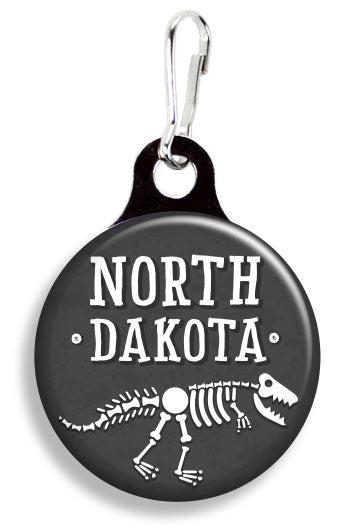 North Dakota Dinosaurs - Fetch Life Pet Outfitters Dog & Cat Collar Clips