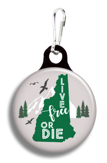 Live Free or Die NH - Fetch Life Pet Outfitters Dog & Cat Collar Clips