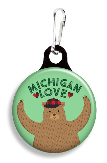 Michigan Bear Hug - Fetch Life Pet Outfitters Dog & Cat Collar Clips