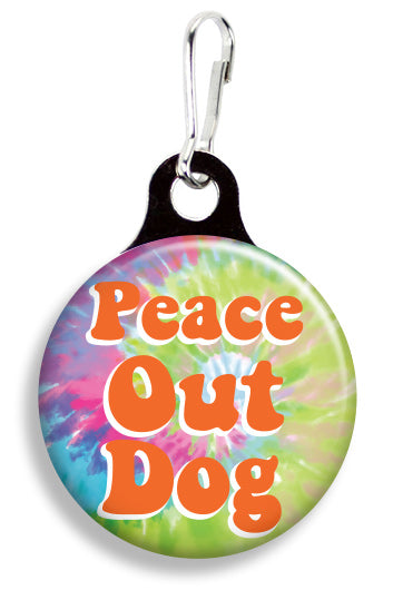 Peace Out Dog - Fetch Life Pet Outfitters Dog & Cat Collar Clips
