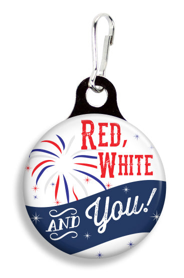 Red, White and You - Fetch Life Pet Outfitters Dog & Cat Collar Clips