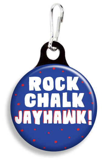 Kansas Rock Chalk Jayhawk - Fetch Life Pet Outfitters Dog & Cat Collar Clips