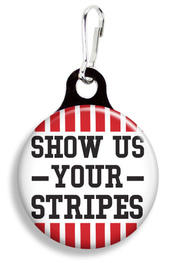 IU Hoosier Stripes - Fetch Life Pet Outfitters Dog & Cat Collar Clips