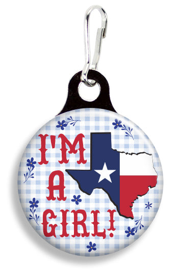 I'm a Texas Girl - Fetch Life Pet Outfitters Dog & Cat Collar Clips