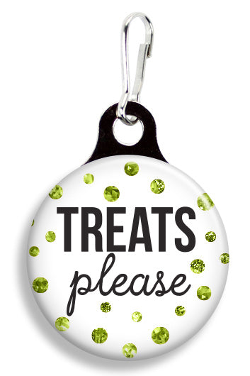 Glitter Treats Please - Fetch Life Pet Outfitters Dog & Cat Collar Clips