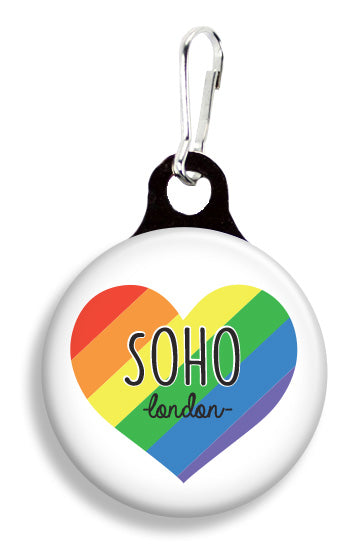 SoHo Rainbow Heart - Fetch Life Pet Outfitters Dog & Cat Collar Clips