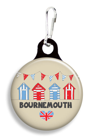 Bournemouth Beach Huts - Fetch Life Pet Outfitters Dog & Cat Collar Clips