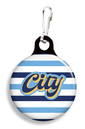 Man City Supporter - Fetch Life Pet Outfitters Dog & Cat Collar Clips