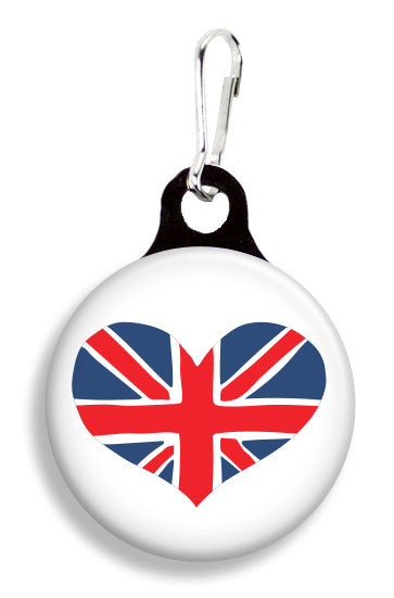 Union Jack Heart - Fetch Life Pet Outfitters Dog & Cat Collar Clips